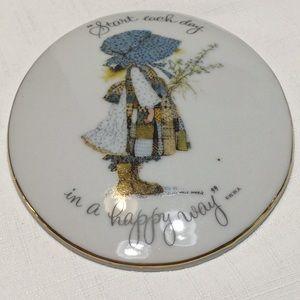 Holly Hobbie Genuine Porcelain Wall Plaque